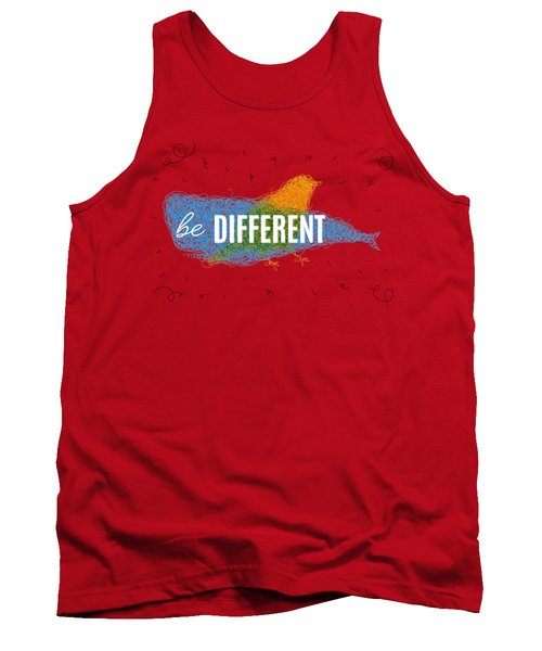 Be Different Tank Top by Aloke Design