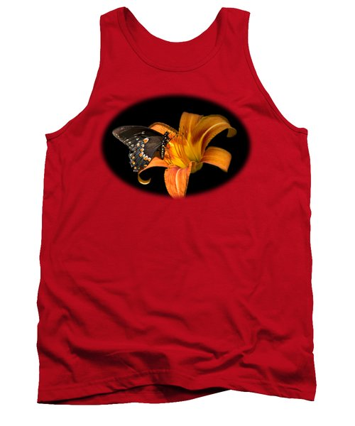 Black Beauty Butterfly Tank Top by Christina Rollo