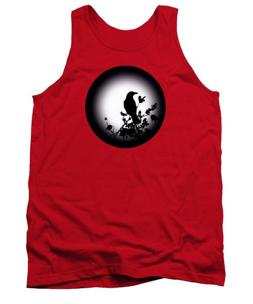Blackbird In Silhouette  Tank Top by David Dehner