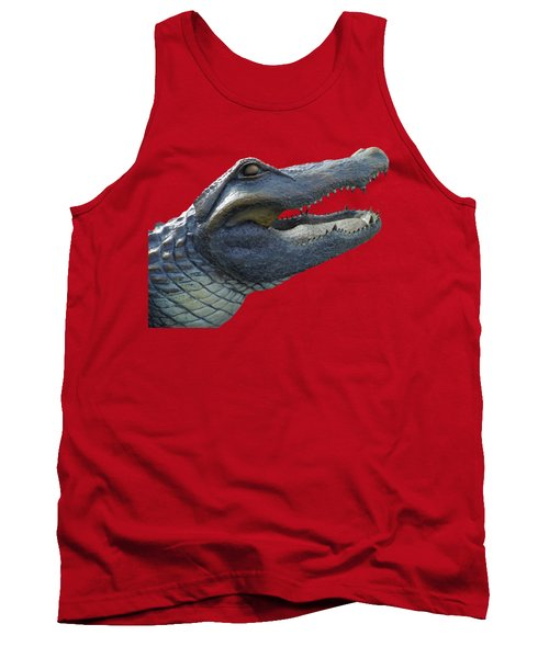 Bull Gator Portrait Transparent For T Shirts Tank Top by D Hackett