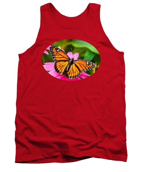 Colorful Butterflies - Orange Viceroy Butterfly Tank Top by Christina Rollo