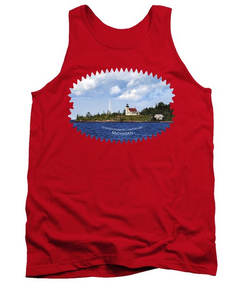 Copper Harbor Lighthouse Tank Top by Christina Rollo