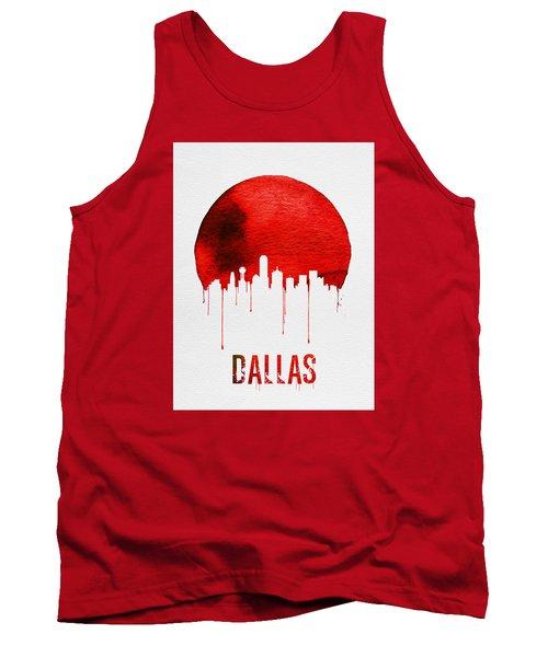 Dallas Skyline Red Tank Top by Naxart Studio