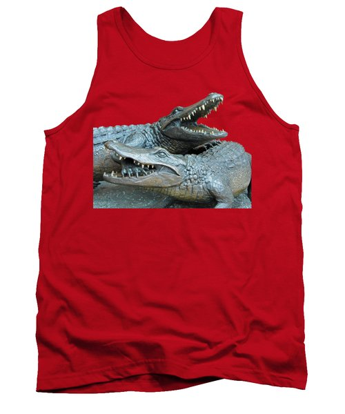 Dueling Gators Transparent For Customization Tank Top by D Hackett