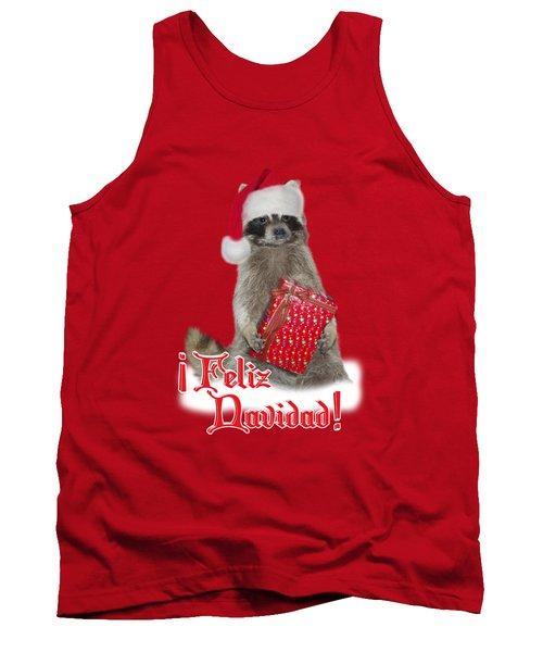 Feliz Navidad - Raccoon Tank Top by Gravityx9  Designs