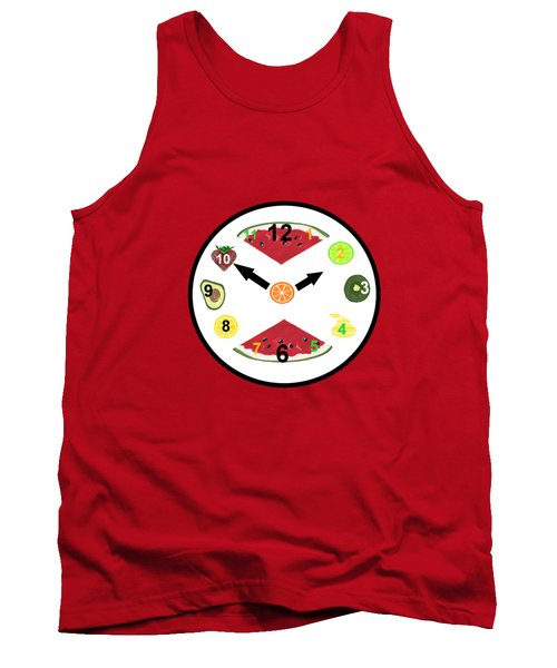 Food Clock Tank Top by Kathleen Sartoris