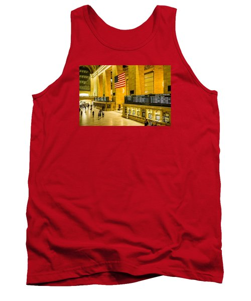 Tank Top featuring the photograph Grand Central Pride by M G Whittingham