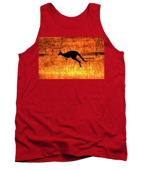 Kangaroo Sunset Tank Top by Bruce J Robinson