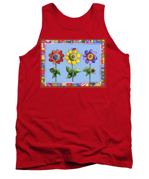 Ladybug Trio Tank Top by Shelley Wallace Ylst