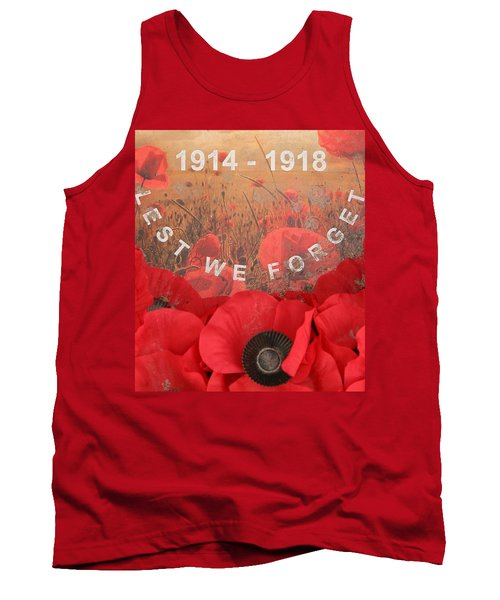 Tank Top featuring the photograph Lest We Forget - 1914-1918 by Travel Pics