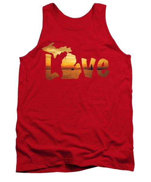 Love Lake Michigan Tank Top by Emily Kay