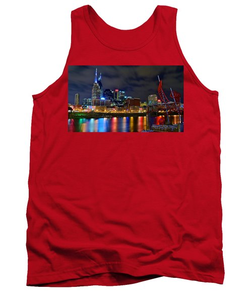Nashville After Dark Tank Top by Frozen in Time Fine Art Photography