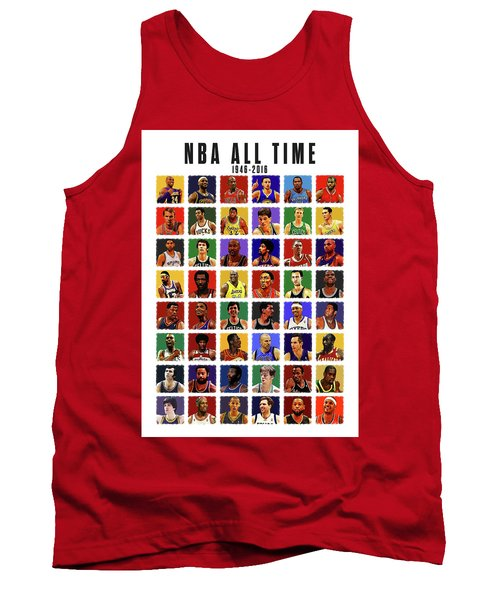 Nba All Times Tank Top by Semih Yurdabak