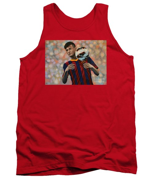 Neymar Tank Top by Paul Meijering