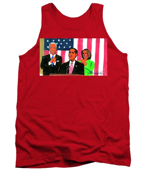 Obama's State Of The Union '10 Tank Top by Candace Lovely