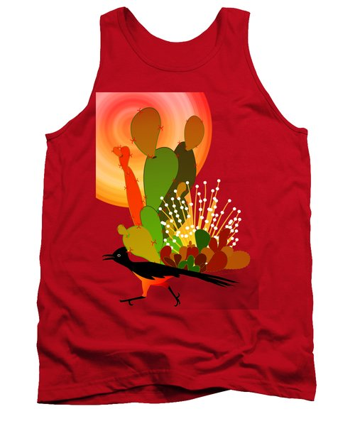 Roadrunner Sunrise Tank Top by Methune Hively