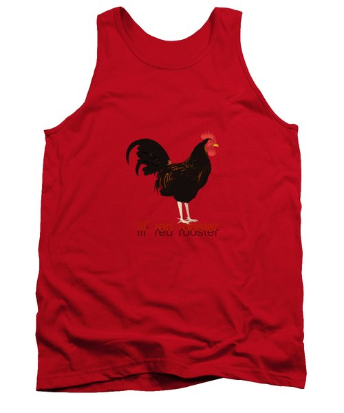 Rooster Tank Top by Valerie Anne Kelly