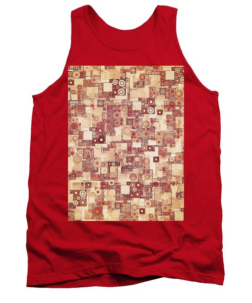 Squares And Circles  Tank Top by Sandy Taylor