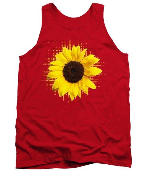 Sunflower Sunburst Tank Top by Gill Billington