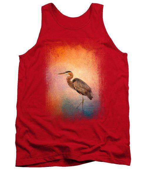 Sunset Heron Tank Top by Jai Johnson