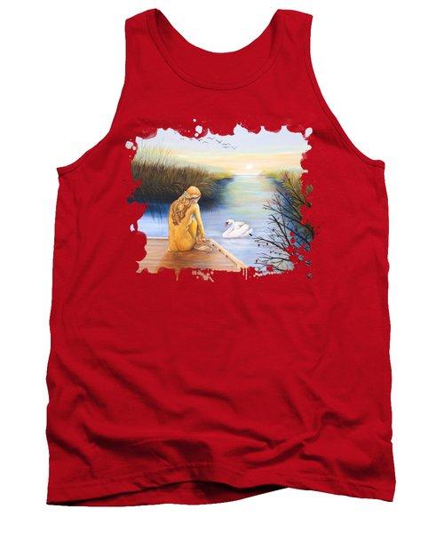 Swan Bride T-shirt Tank Top by Dorothy Riley