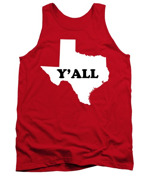 Texas Yall Tank Top by Michelle Murphy