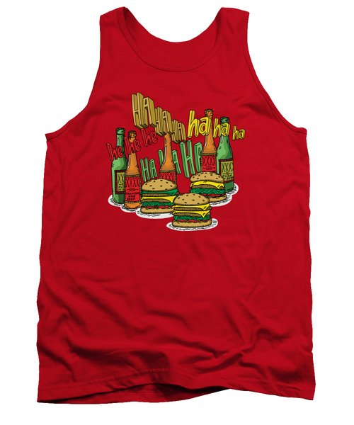The Big Lebowski  Some Burgers Some Beers And A Few Laughs  In And Out Burger Jeff Lebowski Tank Top by Paul Telling