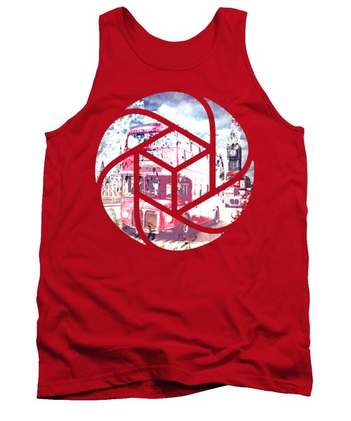 Trendy Design London Red Buses  Tank Top by Melanie Viola