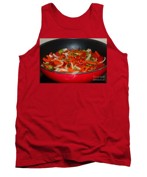 Vegetable Stir Fry By Kaye Menner Tank Top by Kaye Menner