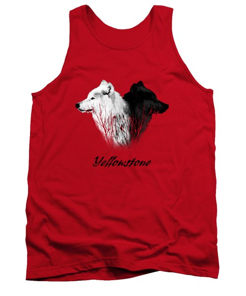 Yellowstone Wolves T-shirt Tank Top by Max Waugh