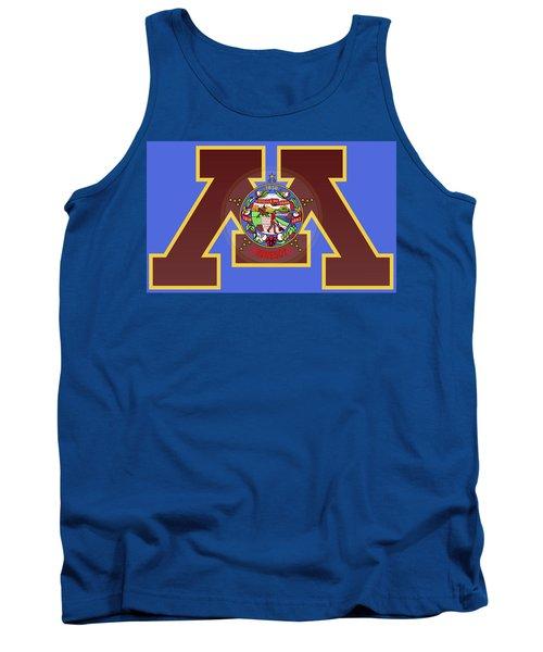 U Of M Minnesota State Flag Tank Top by Daniel Hagerman