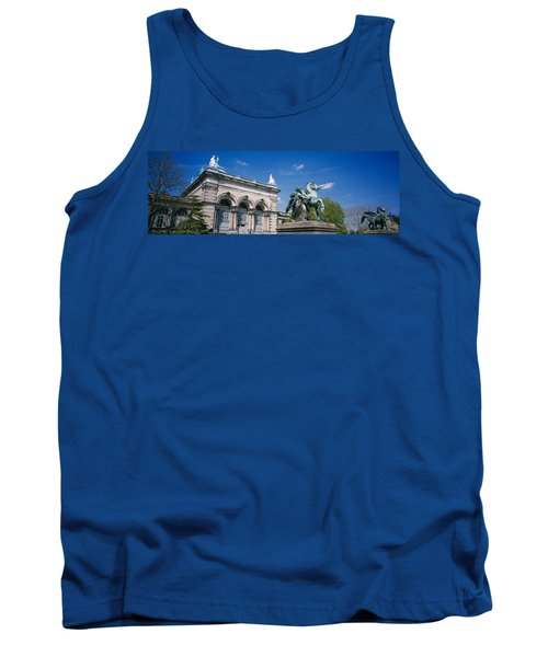 Low Angle View Of A Statue In Front Tank Top by Panoramic Images