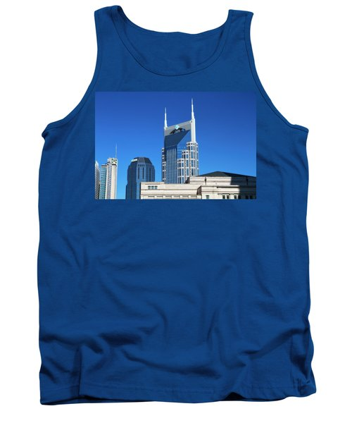 Batman Building And Nashville Skyline Tank Top by Dan Sproul