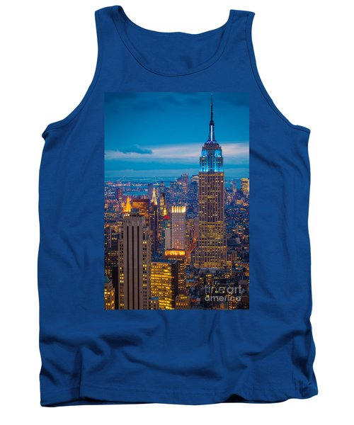 Empire State Blue Night Tank Top by Inge Johnsson