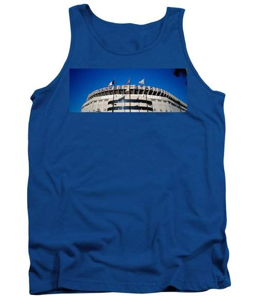 Flags In Front Of A Stadium, Yankee Tank Top by Panoramic Images