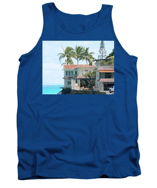 House At Land's End Tank Top by Dona  Dugay