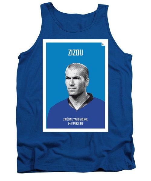 My Zidane Soccer Legend Poster Tank Top by Chungkong Art