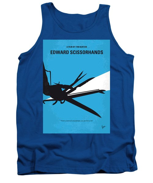 No260 My Scissorhands Minimal Movie Poster Tank Top by Chungkong Art