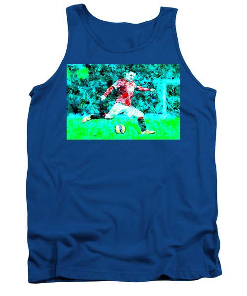 Wayne Rooney Splats Tank Top by Brian Reaves