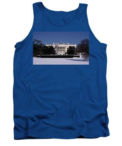Winter White House  Tank Top by Skip Willits