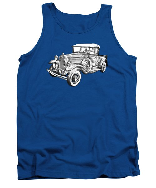 1930 Ford Model A Pickup Truck Illustration Tank Top by Keith Webber Jr