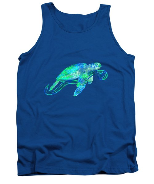 Sea Turtle Graphic Tank Top by Chris MacDonald