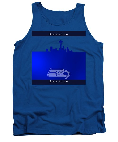Seattle Seahawks Skyline Tank Top by Alberto RuiZ