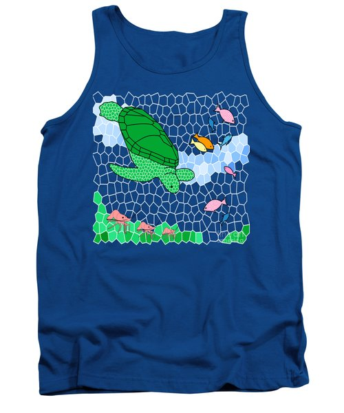 Turtle And Friends Tank Top by Methune Hively