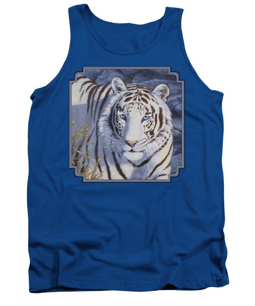 White Tiger - Crystal Eyes Tank Top by Crista Forest