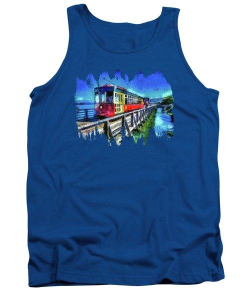 Astoria Riverfront Trolley Tank Top by Thom Zehrfeld