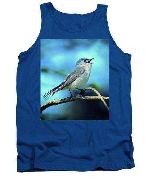 Tank Top featuring the photograph Blue-gray Gnatcatcher by Rodney Campbell