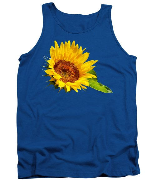 Color Me Happy Sunflower Tank Top by Christina Rollo