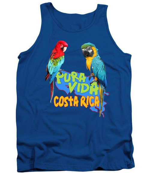 Costa Rican Macaws Tank Top by Linda Bissett