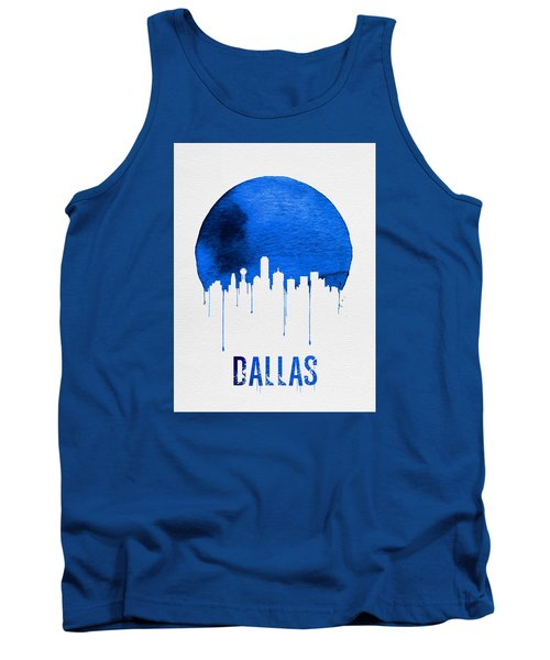 Dallas Skyline Blue Tank Top by Naxart Studio